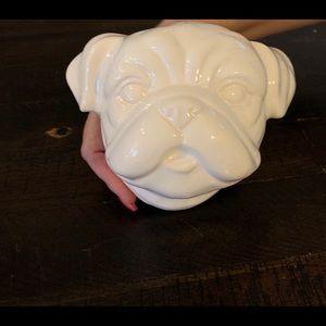 Porcelain pug head